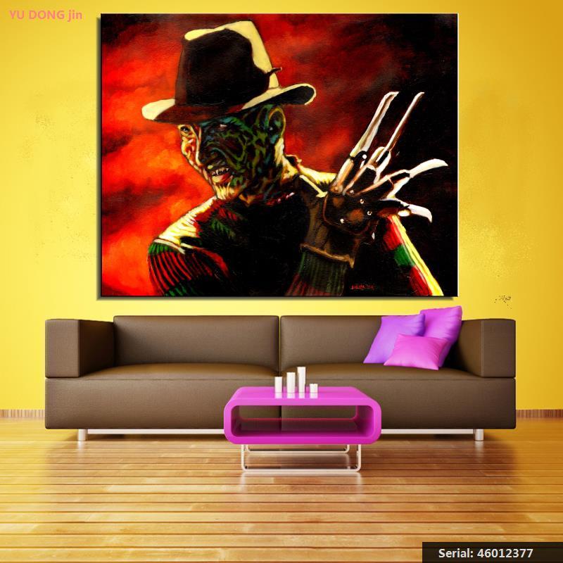 Noční můra na Elmu Portrét Klasická olejomalba Kresba umění Sprej Bez rámečku Plátno ručně realistické čtvercové kuchyně46012377
