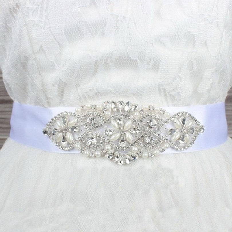 Unique Wedding Dress Sashes Belts: Beautiful Pearls Wedding Belt Bridal Belt Rhinestone