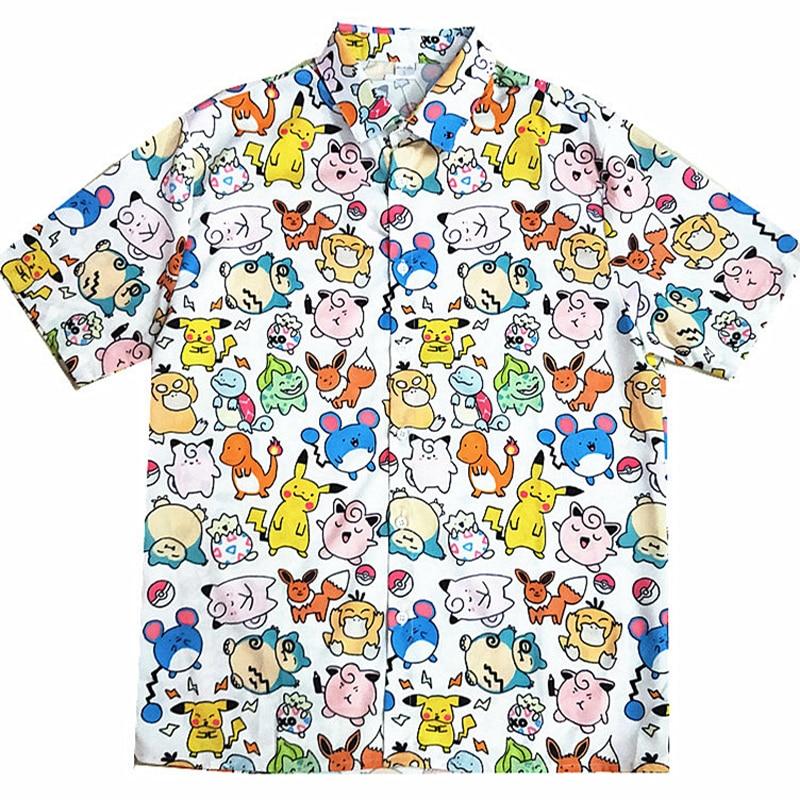 Long Harajuku Pokemon Shirt 1