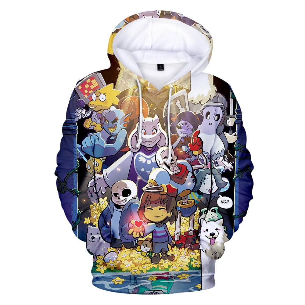 High Quality Undertale 3D Hoodies Men Women Fashion Hip Hop Harajuku Autumn Print Undertale 3D Boys Girls Hoodies And Sweatshirt