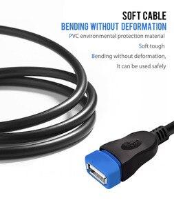 Image 4 - VOXLINK 5 paket USB 2.0 uzatma kablosu PC Laptop için erkek kadın USB şarj Sync veri uzatma kablosu 1M 1.8M 3M 5M