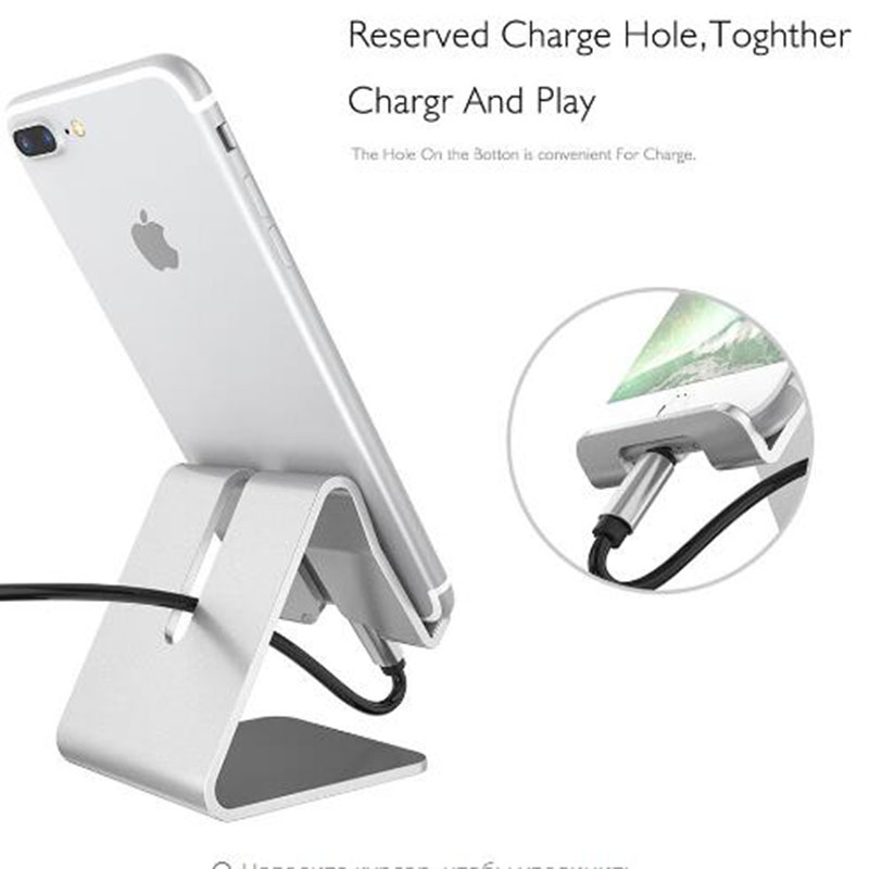 Aluminum alloy rotating phone holder for iphone X XS for samsung tablet holder Stand mount support Bracket adjustable Desk holde in Phone Holders Stands from Cellphones Telecommunications