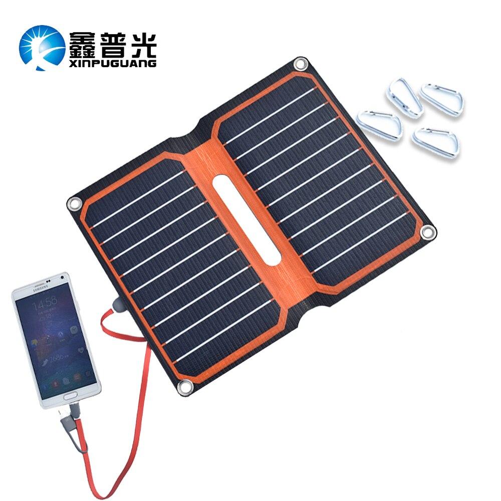 10 w panneau solaire cellule chargeur solaire pliable Portable ETFE stratifié batterie externe USB 5 v 2A mobile tablette téléphone chargeur de batterie