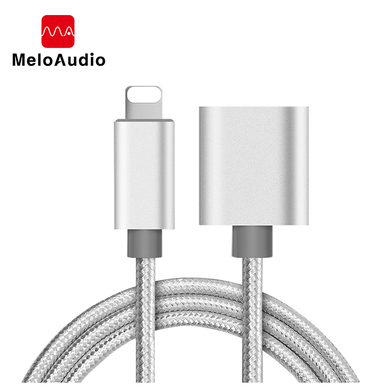 Lightning Port Extension Cable 1m Male To Female Extender For IPhone IPad Mini IPod Charging Adapter Passing Audio Video Data