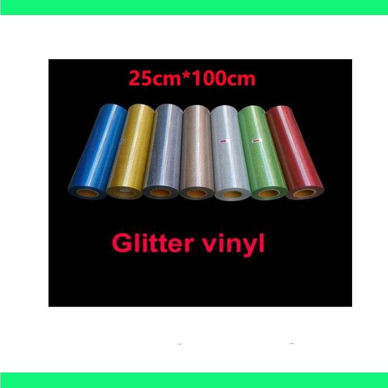 Livraison gratuite remise 5 pièces de 25 cm x 100 cm paillettes vinyle pour transfert de chaleur presse à chaud traceur de découpe