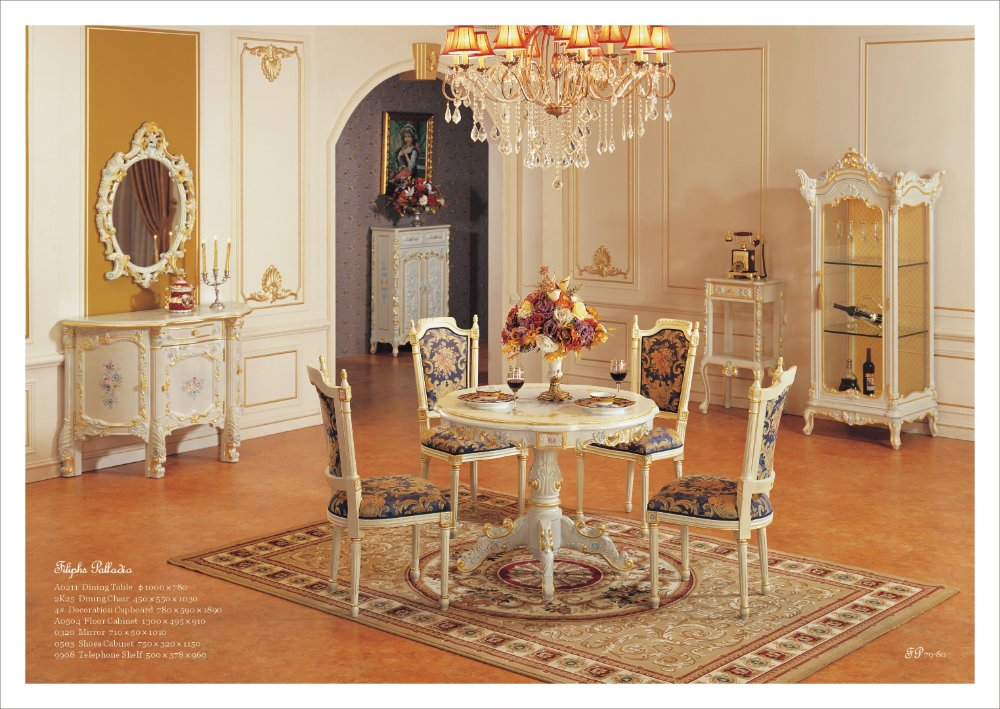 Antiguo comedor muebles antiguos de la reproducción de ...