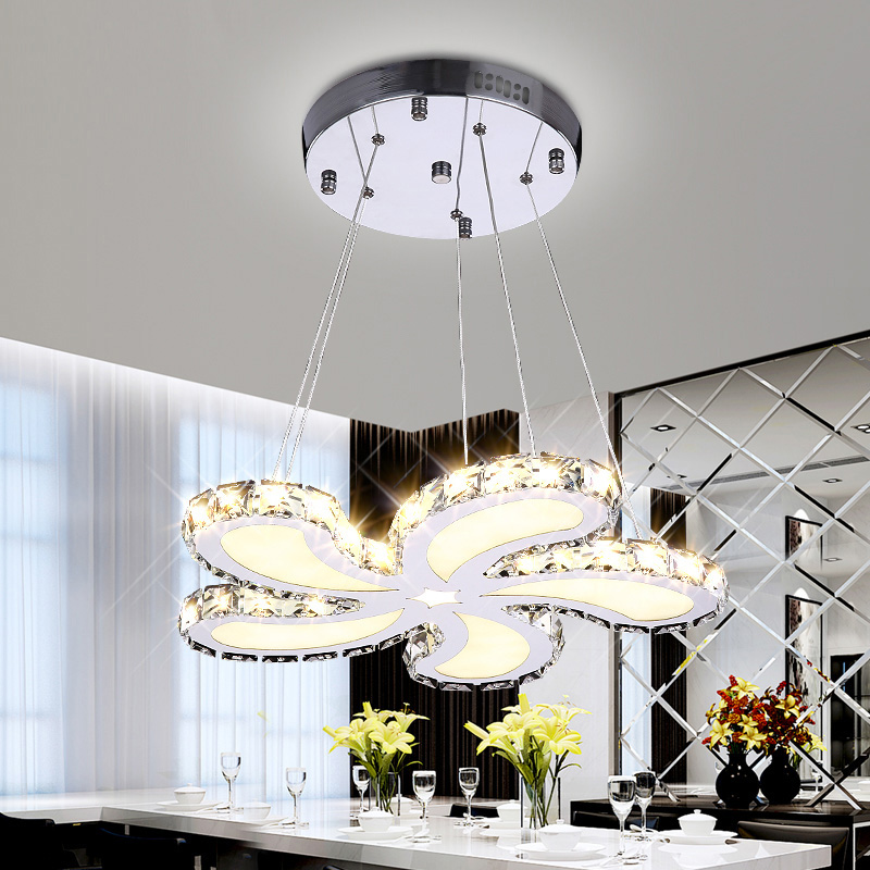 Fashion New Design 43W Pendant Lights Modern Gold Crystal Lamps Dining Room Glass Flower Light Home Lighting Fixtures for Decor a1 master bedroom living room lamp crystal pendant lights dining room lamp european style dual use fashion pendant lamps