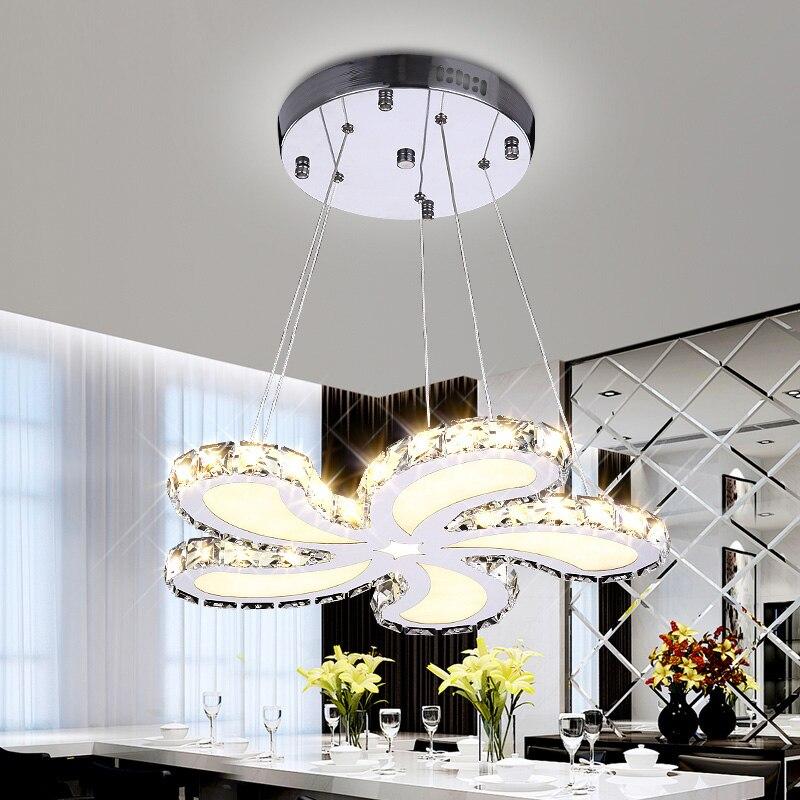 la moda de nueva diseo w oro lmparas de cristal colgante luces moderno comedor luz