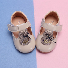 COZULMA Spring Baby Girl Lovely Rhinestone Rabbit Casual Shoes Toddler Kids Party T-Strap Flat New Enfants Size 15-25