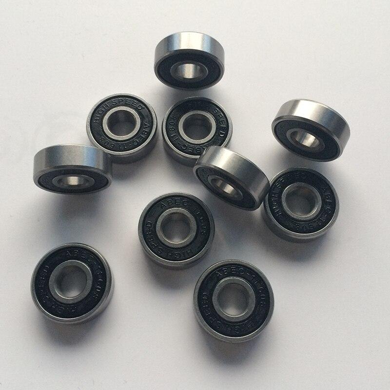 """10 sztuk / zestaw ABEC 11 Łożyska do hulajnogi deskorolki Longboard Rolle Skate Wheels przemysłowy standard """"608"""" rozmiar"""