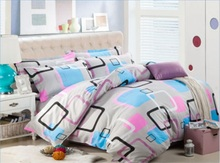 wholesale Home textile,Reactive Print 4 Pcs bedding sets luxury include Duvet Cover + Bed sheet + Pillowcase,housse de couette