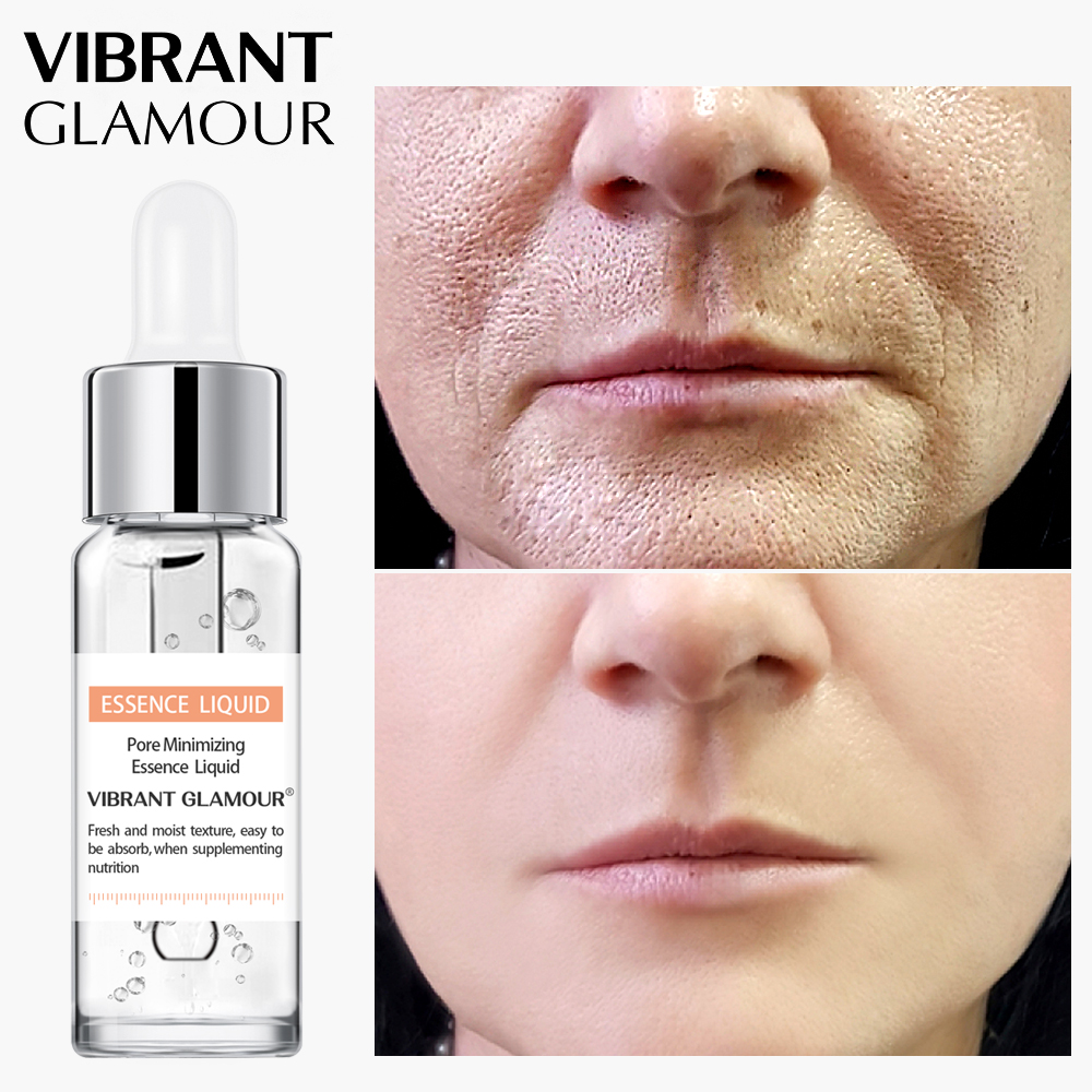 VIBRANT GLAMOUR Shrink Pores Face serum Whitening Hyaluronic Acid liquid Moisturizing Face essence Plant Skin Care  Anti Wrinkle
