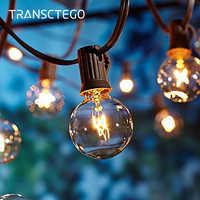 La ficelle de jardin allume 25 ampoules G40 jardin Patio extérieur accrochant la ficelle menée allume les lampes d'intérieur imperméables de décoration de partie de noël