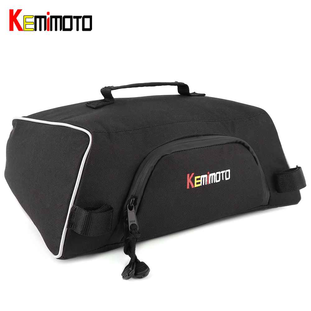 KEMiMOTO For Snowmobile Sled For Polaris Indy 550 600 800 Assault RMK 800 Pro RMK 600 Under Seat Storage Bag Switchback Cargo