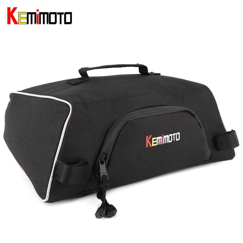KEMiMOTO For Snowmobile Sled For Polaris Indy 550 600 800 Assault RMK 800 Pro RMK 600 Under Seat Storage Bag Switchback Cargo