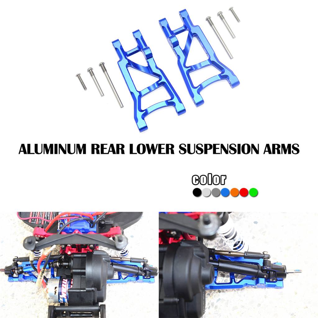 Aluminum Rear Lower Suspension A-Arms Replace 2555 for Traxxas Slash 1//10 2WD RC Car Hop Up Parts Blue