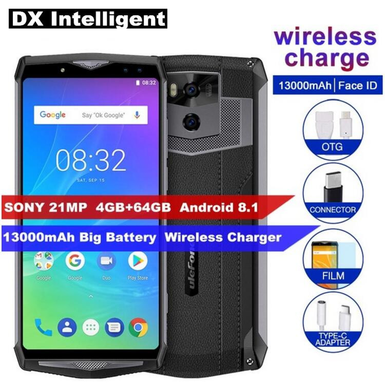 Ulefone Power 5s MTK6763 Octa Core Mobile Phone 6.0 Inch 18:9 4GB+64GB 21MP Dual Rear Cameras Wireless charge OTG Fingerprint