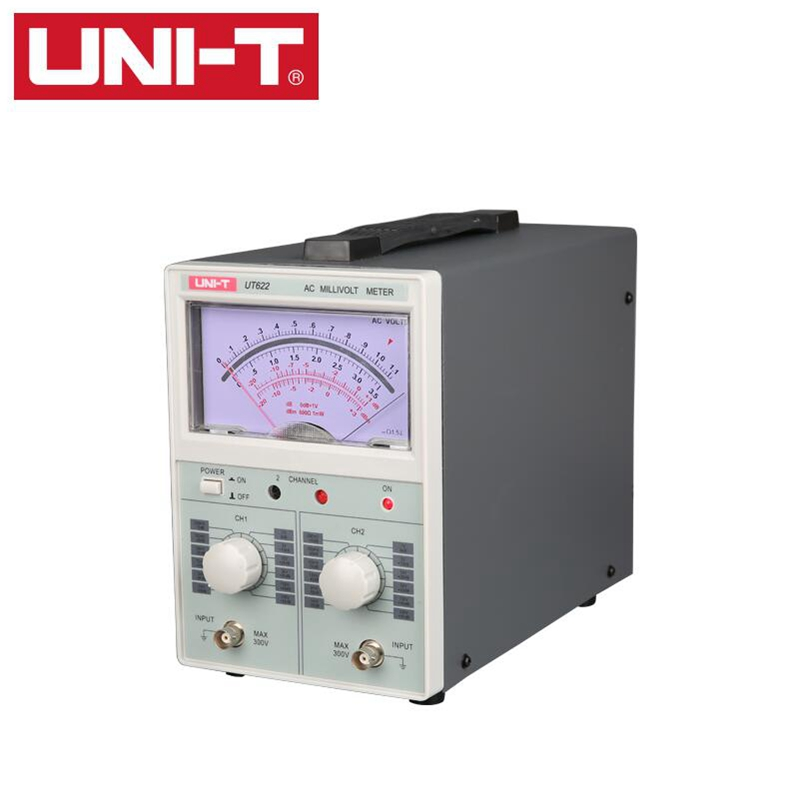 UNI T UT622 AC digital voltmeter millivolt meter AC Millivoltmeter Dual Channel 100uV 300V Voltage tester Frequency 10HZ 2MHZ