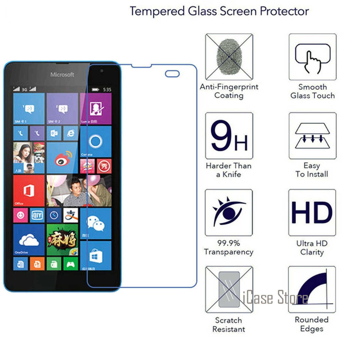 Закаленное Стекло Защитная пленка для microsoft Nokia Lumia 650 550 540 640 635 535 530 435 950 XL взрывоустойчивый защитный Fundas