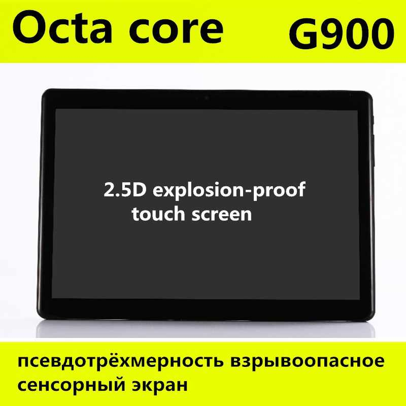 10.1 polegada octa núcleo tablet pc g900 2.5d tela android 8.0 3g 4g lte duplo sim 1920*1200 ips 4 gb 128 gb wifi comprimidos de bluetooth