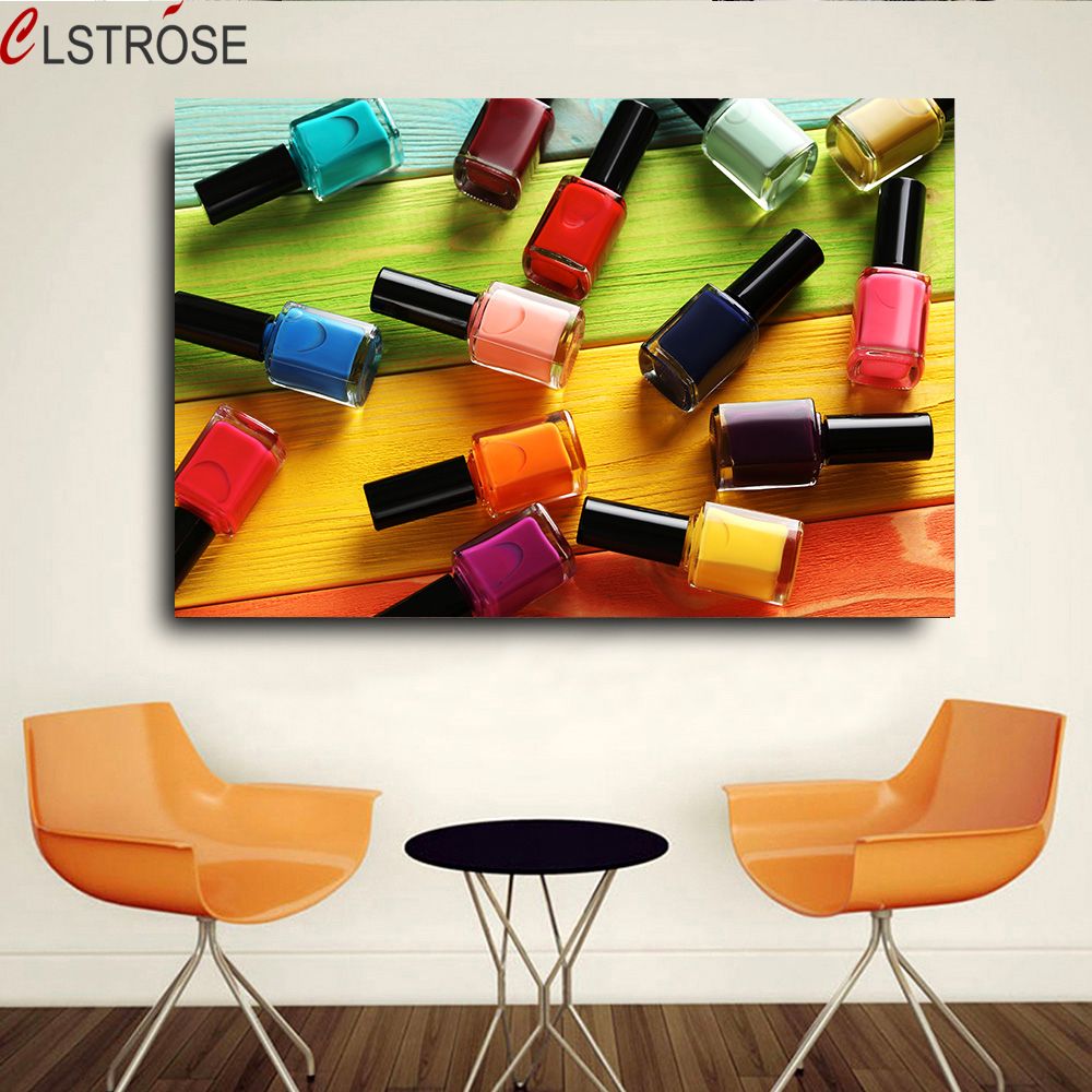 Nail Art Spa Warsaw In: CLSTROSE 1 Pieces Colorful Nail Polish Wall Pictures For