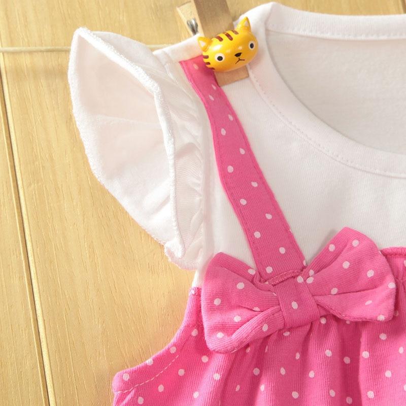 40afe8904411e Baby Girls Dress Rose Summer Newborn Dresses Bow Cotton Infant Dresses  Lovely Dot Baby Dress Girl baby clothing #1031-in Dresses from Mother & Kids  on ...