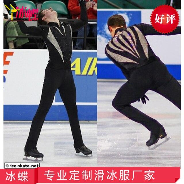 2f0826f90 Ropa de patinaje de figura personalizada para hombres/niños moda nueva  marca Vogue figura patinaje competición disfraz MR3141