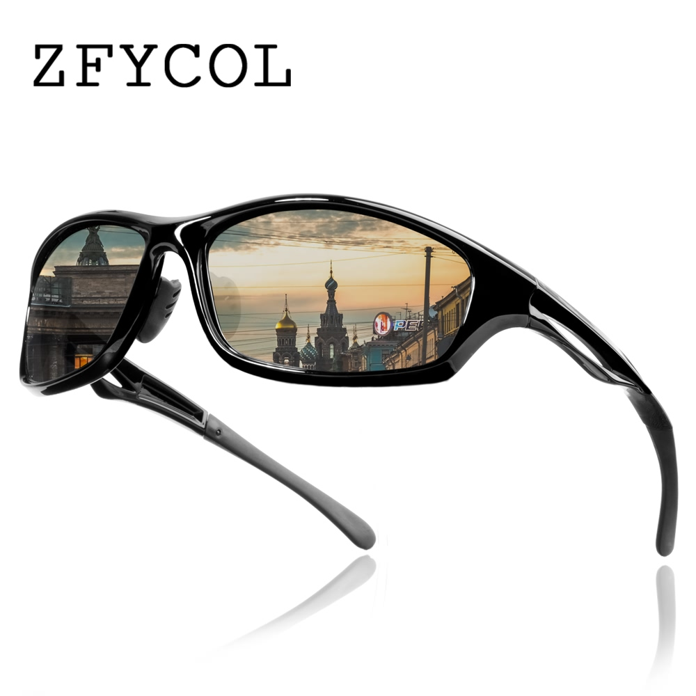 ZFYCOL Brand Design Anti-Glare Polarized Sunglasses Men's Driving Sun glasses For Men HD Lens Male Goggles Oculos Gafas CX20