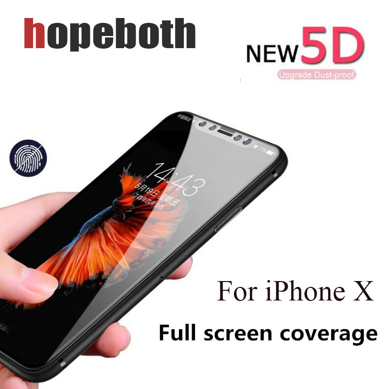 100 pcs/lot 5D Film de verre trempé à couverture complète pour iPhone 7 Plus pour iPhone 8 6 s Plus X Film protecteur d'écran antidéflagrant
