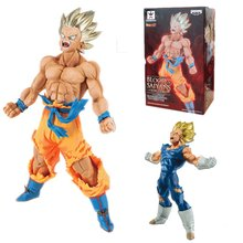 18 centímetros DBZ Vegeta Goku Dragon Ball Figuras Estatueta Mangá Japonaise Pvc Dragon Ball Z Super Saiyan Goku Action Figure modelo de Brinquedo(China)