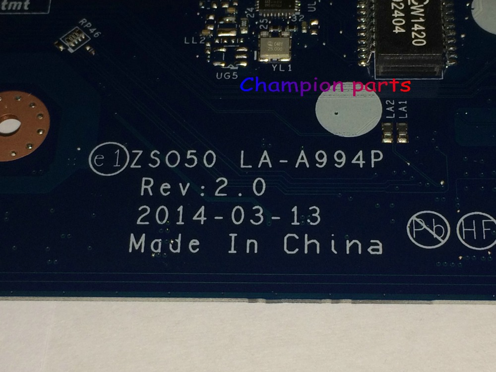 ФОТО STOCK + WORKING FREE SHIPPING ZSO50 LA-A994P laptop motherboard FIT for HP 15-R 15T-R Notebook PC (PLEASE COMPARE BEFORE ORDER )