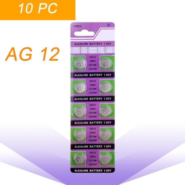 a825a4c62 10 unids/pack AG12 LR43 386 baterías de botón SR43 186 SR1142 LR1142  celular moneda
