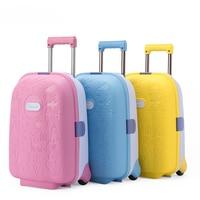 מזוודה חמודה ילדי 16 inch, C היפה של הילדה מזוודות, תיק נסיעות ABS באיכות גבוהה, גלגל אוניברסלי תיבת עגלת