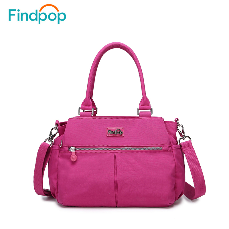 Findpop New Handbag Women Crossbody Bag 2018 Fashion Canvas Crossbody Bags For Women Waterproof Large Capacity Casual Handbags findpop floral printing handbag fashion waterproof nylon crossbody bag for women 2017 large capacity casual shell top handle bag