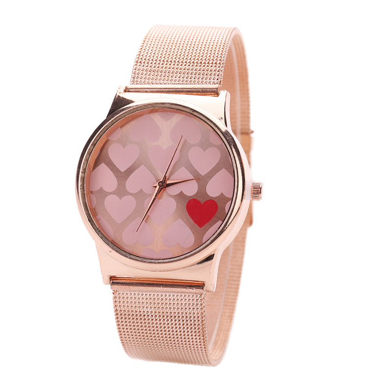 Luxury Brand New Watches Women Rose Gold Watch Cute Heart Design Stainless Steel Quartz Wrist Watch 2017 Clock Relogio Feminino