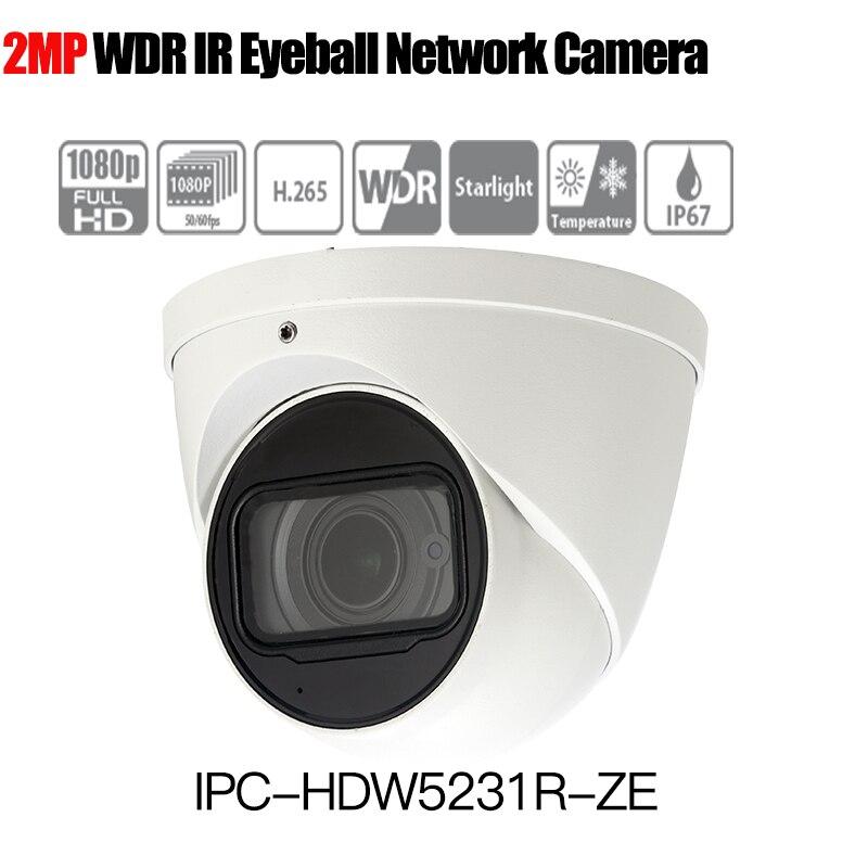 Dahua IPC-HDW5231R-ZE 2MP Starlight POE WDR IR Eyeball IP Camera 2.7-13.5mm motorized lens built-in mic replace IPC-HDW5231R-Z free shipping dahua security ip camera cctv 2mp wdr ir eyeball network camera with poe ip67 without logo ipc hdw5231r z