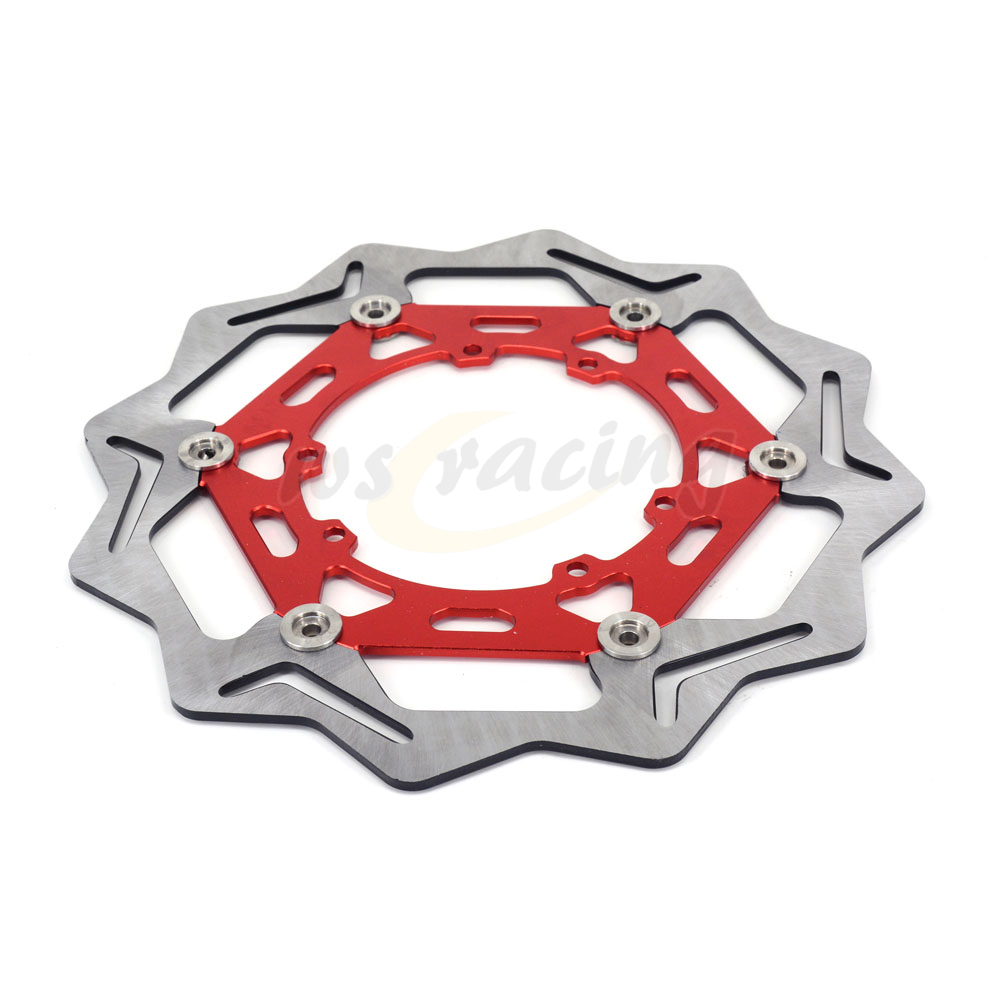 270MM Motorcycle Front Wavy Floating Brake Disc Rotor For HONDA CR125 CR250 CRF230 CRF250X CRF250R CRF450R CRF450X 296mm motorcycle front wavy floating brake disc rotor for honda cbr600f4i cbr600f cb919f vtx1800 vtx1800f vtx1800n vtx1800t
