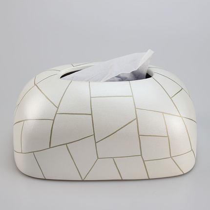 Скандинавская креативная ручная роспись коробка из керамической ткани персонализированное украшение для дома журнальный столик гостиная столовая хранение салфеток - Цвет: E