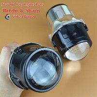 2016 New Metal Universal Foglights Projector Lens Driving Lamps Front Bumper Lamp Aftermarket Retrofit H11 Super