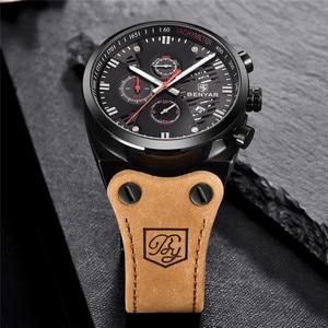 Image 5 - BENYAR New 30M Waterproof Outdoor Hollow Sports Chronograph Watch Skeleton Calendar Mens Quartz Wrist Watches Relogio Masculino