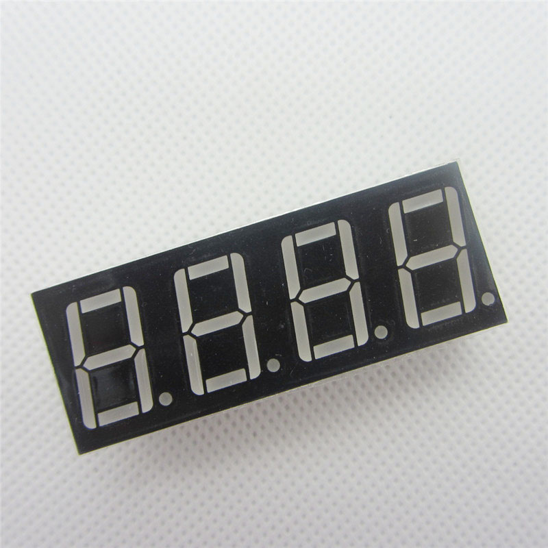 1pcs Common Anode 4bit Digital Tube 0.56 Red LED with Clock