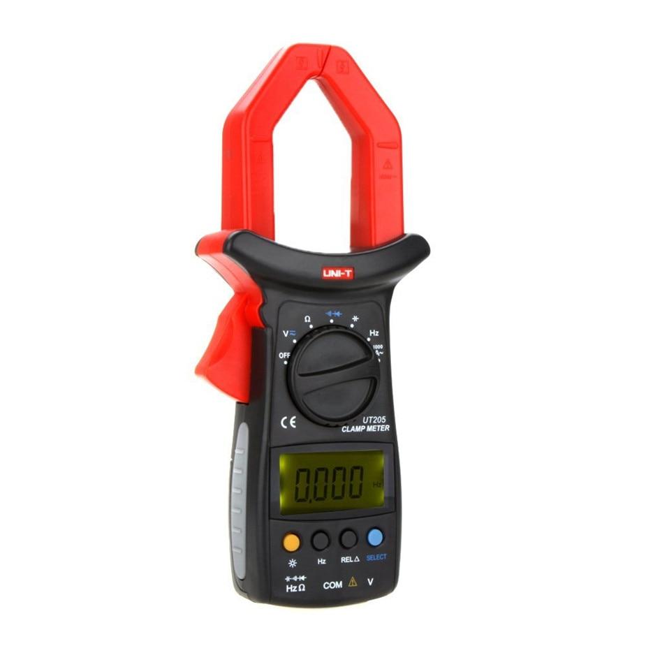 UNI-T UT205 Ture RMS Auto/Manual Range Digital Handheld Clamp Meter Multimeter AC/DC voltage ACA Test Tool tm 1005 digital ac clamp meter ac transducer with aca output 1 400mv tm1005