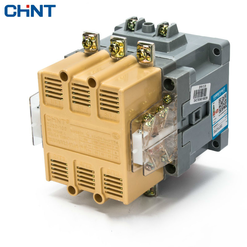 цена на CHINT Communication Contactor CJ20-100 380v 220v 110v 36v Two Normally Open Two Often Close 100A