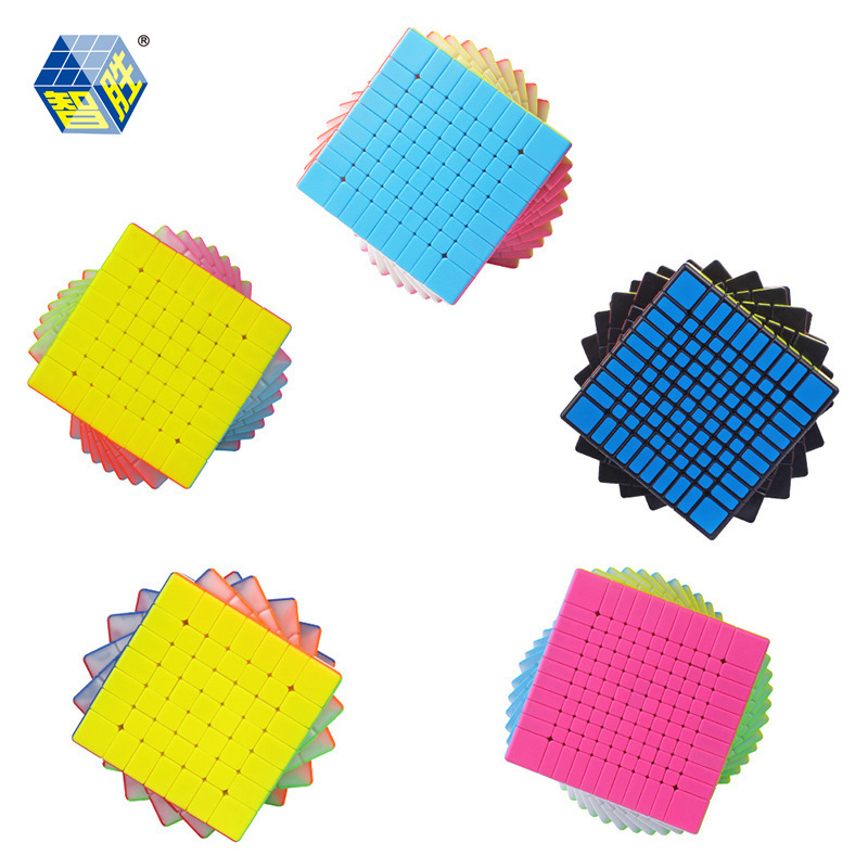 ZHISHENG YUXIN HUANGLONG Series Stickerless 3x3x3 7x7 8x8 9x9 10x10 11x11 Magic Cube Puzzle 10*10*10 Cube Educational Toys Gifts оперативная память corsair cmv8gx4m1a2400c16 dimm 8gb ddr4 2400mhz dimm 288 pin pc 19200 cl16