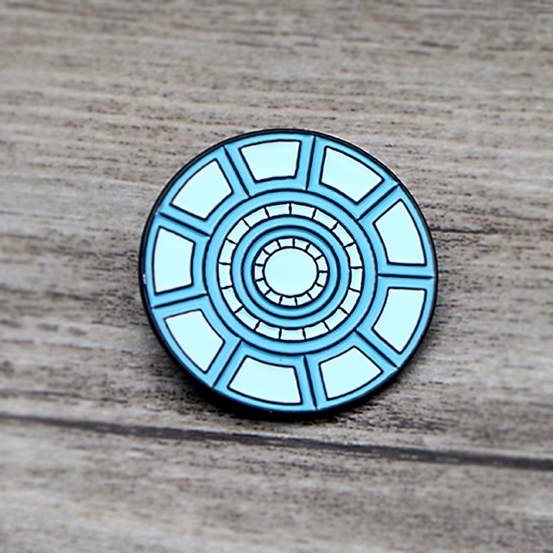 L1420 Iron Man Nuclear Reactor Metal Brooches and Pins Enamel Pin for Backpack Bag Badge Brooch Collar Jewelry Gifts in Brooches from Jewelry Accessories
