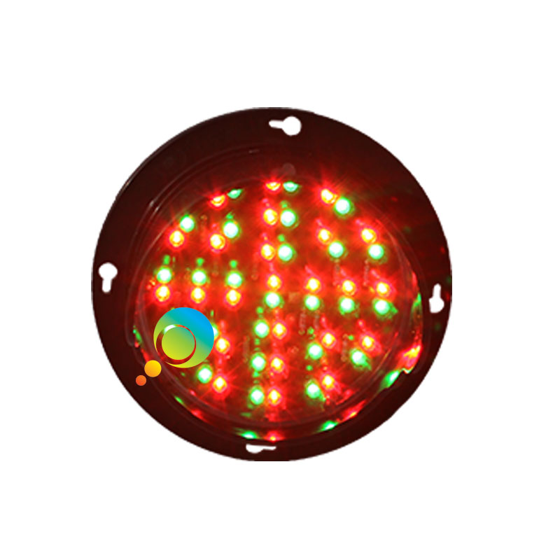 DC24V Parking Lots Mini Traffic Light Replacement CE/RoHS Approved 100mm 4 Inch Red Green Traffic Light Module