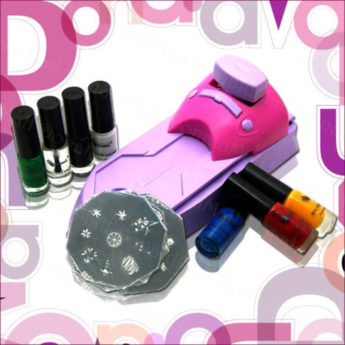 Nail Art Stamping Image Plate Polish Printing Machine Kit Set Dropshipping