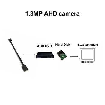 1.3MP Mini AHD Camera Micro Audio Camera AHD/TVI/CVI/CVBS 4 IN 1 UTC for AHD DVR Kits Micro CCTV Camera Security System DC 12V