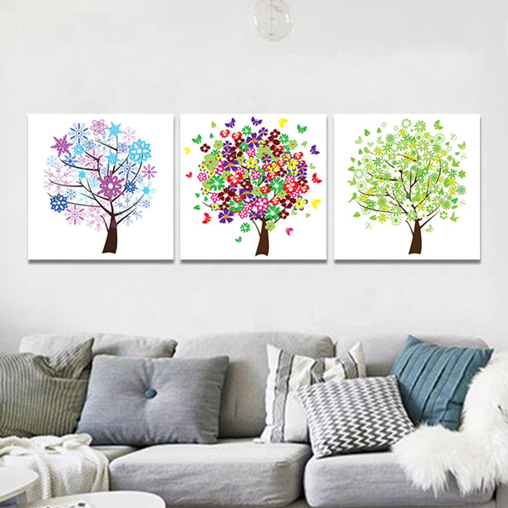 Unframed 3 Abstract Canvas Painting Butterfly Snowflake Wall Art Decor Prints Wall Pictures For Living Room Wall Art Decoration
