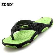 ZDRD Summer Men Designer Flip Flops Men Fashion Beach Shoes Lightweight Casual Slip-Resistant Sandals Slippers Breathable Shoes
